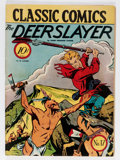 Golden Age (1938-1955):Classics Illustrated, Classic Comics #17 The Deerslayer - First Edition (Gilberton, 1944) Condition: VG-....