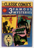 Golden Age (1938-1955):Adventure, Classic Comics #21 3 Famous Mysteries - First Edition 1C (Gilberton, 1944) Condition: FN-....