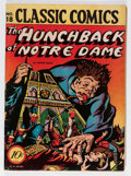 Golden Age (1938-1955):Classics Illustrated, Classic Comics #18 The Hunchback of Notre Dame - First Edition(Gilberton, 1944) Condition: VG/FN....