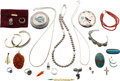 Estate Jewelry:Lots, A GROUP OF MULTI-STONE, GOLD, SILVER JEWELRY. ... (Total: 24 Items)