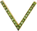 Estate Jewelry:Brooches - Pins, A TOURMALINE, GOLD BROOCH. ...