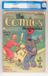 The Comics Magazine #1 Lost Valley pedigree (Comics Magazine, 1936) CGC FR/GD 1.5 Off-white pages