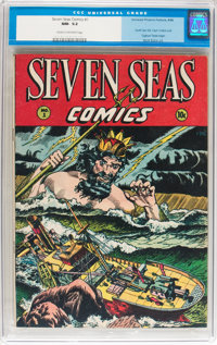 Seven Seas Comics #1 (Universal Phoenix Feature, 1946) CGC NM- 9.2 Cream to off-white pages