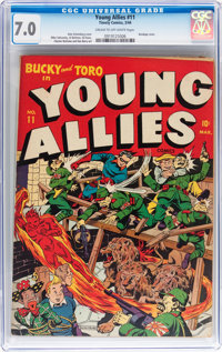 Young Allies Comics #11 (Timely, 1944) CGC FN/VF 7.0 Cream to off-white pages