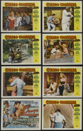 """Movie Posters:Adventure, Congo Crossing (Universal International, 1956). Lobby Card Set of 8(11"""" X 14""""). Adventure. Directed by Joseph Pevney. Starr... (Total:8 Items)"""