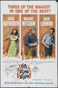 "Movie Posters:Adventure, Fire Down Below (Columbia, 1957). One Sheet (27"" X 41""). Drama.Directed by Robert Parrish. Starring Rita Hayworth, Robert M..."