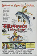"Movie Posters:Adventure, Flipper's New Adventure (MGM, 1964). One Sheet (27"" X 41"").Adventure. Directed by Leon Benson. Starring Luke Halpin, Pamela..."