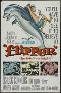 "Movie Posters:Adventure, Flipper (MGM, 1963). One Sheet (27"" X 41""). Family Adventure.Directed by James B. Clark. Starring Chuck Connors, Luke Halpi..."
