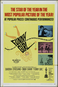 "Funny Girl (Columbia, 1968). One Sheet (27"" X 41"") Academy Awards. Musical. Directed by William Wyler. Starrin..."