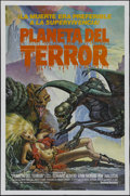 "Movie Posters:Science Fiction, Galaxy of Terror (New World Pictures, 1981). Spanish Language OneSheet (27"" X 41""). Science Fiction. Directed by B.D. Clark..."
