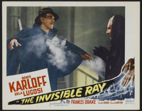 "The Invisible Ray (Realart, R-1948). Lobby Card (11"" X 14""). Horror. Directed by Lambert Hillyer. Starring Bor..."