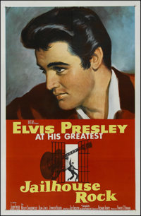 "Jailhouse Rock (MGM, 1957). One Sheet (27"" X 41""). Musical. Directed by Richard Thorpe. Starring Elvis Presley..."