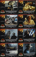 "Movie Posters:Science Fiction, Jurassic Park Lot (Universal, 1993/1997). Lobby Card Sets of 8 (2) (11"" X 14""). ""Jurassic Park"" and ""Jurassic Park II: The L... (Total: 16 Items)"