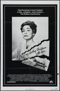 "Movie Posters:Cult Classic, Mommie Dearest (Paramount, 1981). One Sheet (27"" X 41"").Biographical Drama. Directed by Frank Perry. Starring FayeDunaway,..."