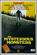 "Movie Posters:Documentary, The Mysterious Monsters (Schick Sun Classic, 1976). One Sheet (27"" X 41""). Mystery. Directed by Robert Guenett. Starring Pet..."