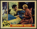 """Movie Posters:Western, Unknown Valley (Columbia, 1933). Lobby Card (11"""" X 14""""). Western. Directed by Lambert Hillyer. Starring Buck Jones, Cecilia ..."""