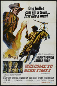 """Welcome to Hard Times (MGM, 1967). One Sheet (27"""" X 41""""). Western. Directed by Burt Kennedy. Starring Henry Fo..."""