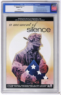 Moment of Silence #nn (Marvel, 2002) CGC NM/MT 9.8 White pages. Tribute to the World Trade Center. Introduction by Mayor...
