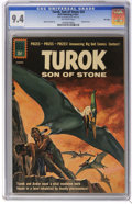 Silver Age (1956-1969):Adventure, Turok #24 File Copy (Dell, 1961) CGC NM 9.4 Off-white pages. Overstreet 2006 NM- 9.2 value = $120. CGC census 5/06: 6 in 9.4...