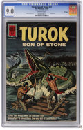 Silver Age (1956-1969):Adventure, Turok #27 File Copy (Dell, 1962) CGC VF/NM 9.0 Off-white pages. Painted cover. Alberto Gioletti art. Overstreet 2006 VF/NM 9...