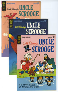 Uncle Scrooge Group (Gold Key, 1964-68) Condition: Average VF. Lot featuring the escapades of Uncle Scrooge includes #48...