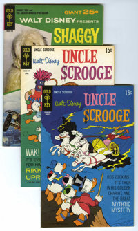 Uncle Scrooge Group (Gold Key, 1968-71) Condition: Average VF. Group consists of Uncle Scrooge #78, #79 (2 copies), #80...