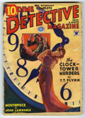 Pulps:Miscellaneous, Dime Detective Magazine (Pulp) V10#3 (Popular, 1934) Condition: GD/VG. Cover has a woman bound to the hands of a giant clock...