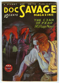"""Pulps:Miscellaneous, Doc Savage (Pulp) V2#3 (Street and Smith, 1933) Condition: VG-. """"Hooded Cultists"""" cover by Walter Baumhofer. Nice smooth cov..."""