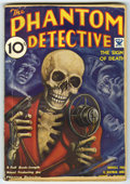 """Pulps:Miscellaneous, Phantom Detective (Pulp) V4#2 (Phantom Detective, Inc., 1934) Condition: VG-. Bookery's """"classic"""" skeleton cover by Rafael D..."""