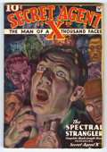 "Pulps:Miscellaneous, Secret Agent ""X"" V1#2 (Periodical House, Inc., 1934) Condition: VG-. Second issue cover art by H. William Reusswig. Cover is..."