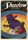 Pulps:Miscellaneous, The Shadow Magazine V9#5 (Street and Smith, 1934) Condition: GD-. Cover art by George Rozen. Cover trimmed. Severe chipping ...