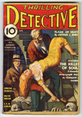 Pulps:Miscellaneous, Thrilling Detective (Pulp) V9#2 (Standard Magazines, Inc., 1934) Condition: VG-. Skeleton cover art by Rafael DeSoto. Cover ...