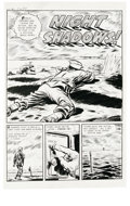"Original Comic Art:Complete Story, Ray Bailey(attributed) - Warfront #6 Complete 5-page Story ""NightShadows"" Original Art (Harvey, 1952). Ray Bailey (or maybe...(Total: 5 Items)"