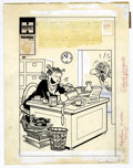Original Comic Art:Covers, Paul Fung Jr. - Dagwood #93 Cover Original Art (Harvey, 1958).Dagwood finally clears off the work load on his desk -- for l...