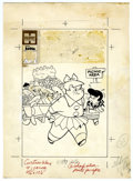 Original Comic Art:Covers, Warren Kremer (attributed) - Little Lotta #4 Cover Original Art(Harvey, 1956). Little Lotta and Little Dot plan a picnic on...