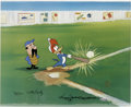 "Animation Art:Limited Edition Cel, ""Woody Gets a Hit"" International Limited Edition Hand Painted Cel#5/25 Original Art with Walter Lantz Signed Payroll Check (W...(Total: 3 Items)"