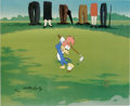 "Animation Art:Limited Edition Cel, ""Golfing Fool"" Limited Edition Hand Painted Cel #15/100 OriginalArt with Walter Lantz Signed Payroll Check (Walter Lantz Prod...(Total: 2 Items)"