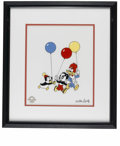 "Animation Art:Limited Edition Cel, ""Party Pals"" Limited Edition Serigraph Cel Original Art with Walter Lantz Signed Payroll Check (Walter Lantz Productions, 1997... (Total: 2 Items)"