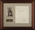 "Western Expansion:Cowboy, 7TH CAVALRY DOCUMENT SIGNED BY CONGRESSIONAL MEDAL OF HONORRECIPIENT EDWARD SETTLE GODFREY - Page, two sided, ""Form 26,"" M...(Total: 1 Item)"