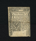 Colonial Notes:Connecticut, Connecticut June 7, 1776 1s Uncancelled Very Fine. The body of this uncancelled note grades Very Fine with good print qualit...