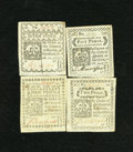 Colonial Notes:Connecticut, Connecticut October 11, 1777 2d; 4d; 5d; 7. This lot is only the 3ddenomination short of completion for this 1777 issue. Th... (Total:4 notes)
