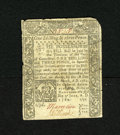 "Colonial Notes:Connecticut, Connecticut June 1, 1780 1s/3d Fine. There is an ""X"" slash cancelin the center of the note instead of the usual punch out c..."