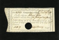 Colonial Notes:Connecticut, Connecticut 1790 Interest Payment Certificate 10s 9d ExtremelyFine-About New, HOC. Two lateral folds are noticed....