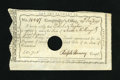 Colonial Notes:Connecticut, Connecticut 1790 Interest Payment Certificate 7s 5d Very Fine.These will have the signatures of either Ralph Pomeroy, or Ol...