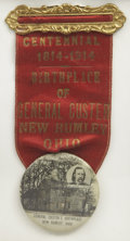 Military & Patriotic:Indian Wars, George A. Custer, Centennial Celebration Ribbon and Badge,...