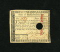 Colonial Notes:Massachusetts, Massachusetts May 5, 1780 $4 Extremely Fine-About New, HOC. Thisnote is bright with light handling while evidence left behi...