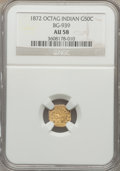 California Fractional Gold: , 1872 50C Indian Octagonal 50 Cents, BG-939, Low R.5, AU58 NGC. NGCCensus: (2/6). PCGS Population (1/39). ...