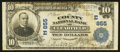 National Bank Notes:Pennsylvania, Clearfield, PA - $10 1902 Plain Back Fr. 624 The County NB Ch. # (E)855. ...