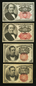 Fractional Currency:Fifth Issue, Four Fifth Issue Fractionals.. ... (Total: 4 notes)