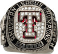 Baseball Collectibles:Others, 2010 Texas Rangers American League Championship Ring Presented to Coach Osvaldo Oliva....